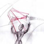 Di Mainstone Illustration of Human Harp